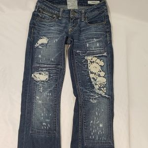 Taverneti SO Distressed Floral Jeans Size 27